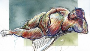 watercolour life drawing