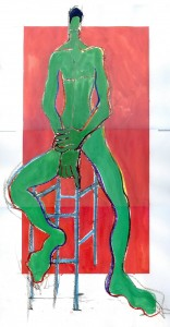 life drawing gouache