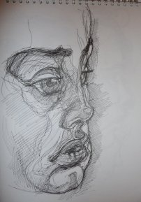 contour drawing face