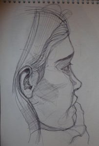 portrait sketch pen
