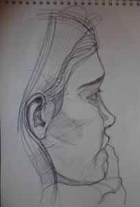 portrait sketch pen