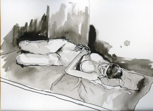 indian ink drawing