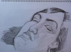 gel pen portrait