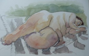 figure watercolour