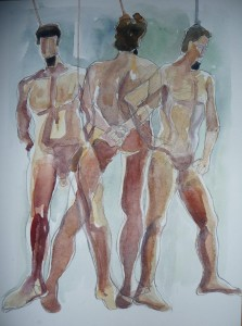 figure painting watercolour