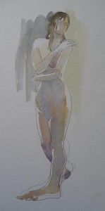watercolour figure