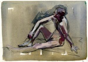 gouache figure painting
