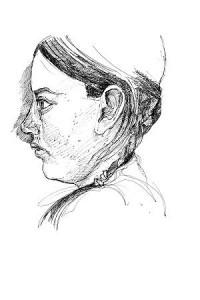 pen portrait sketch