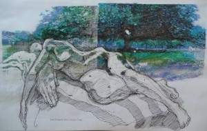 London park figure drawing