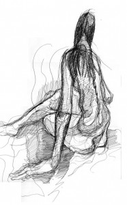 elongated figure drawing