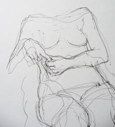 life drawing hands study