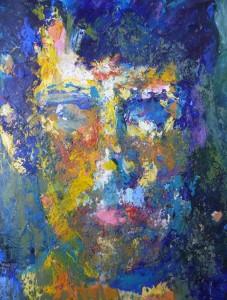 self portrait acrylic paint