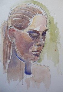 watercolour portrait sketch