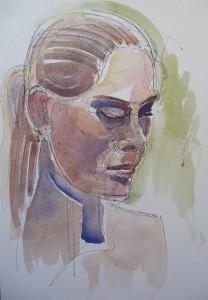 watercolour portrait sketch