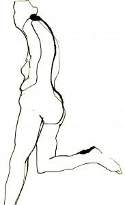 indian ink gestural drawing