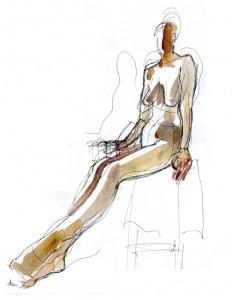 gel pen life drawing
