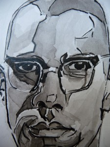 tonal drawing in indian ink