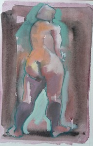 life drawing watercolour and gouache
