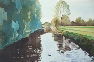 Nantwich watercolour